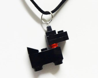 Mini Black Scottie Dog Necklace