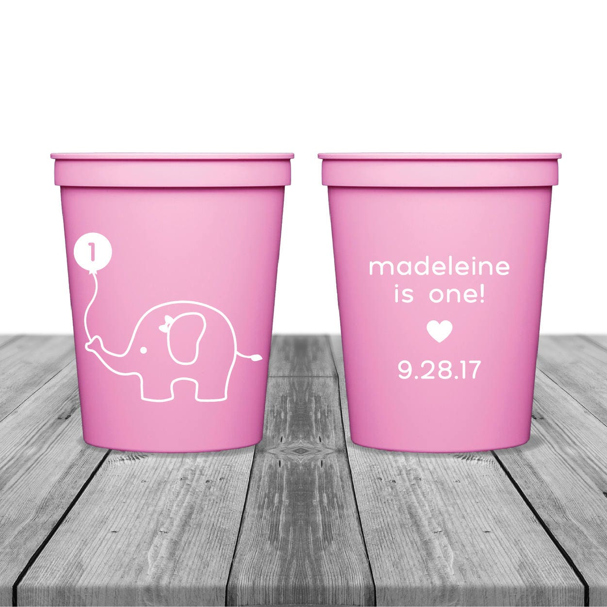 First Birthday Cups Birthday Cups Party Cups Personalized