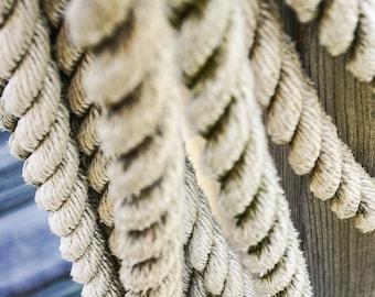 Rope Photography - Sailboat Photography - Lines - Rigging - Nautical Art Print - Nautical Wall Art - Sailing - Gift For Him - Sailor - Decor