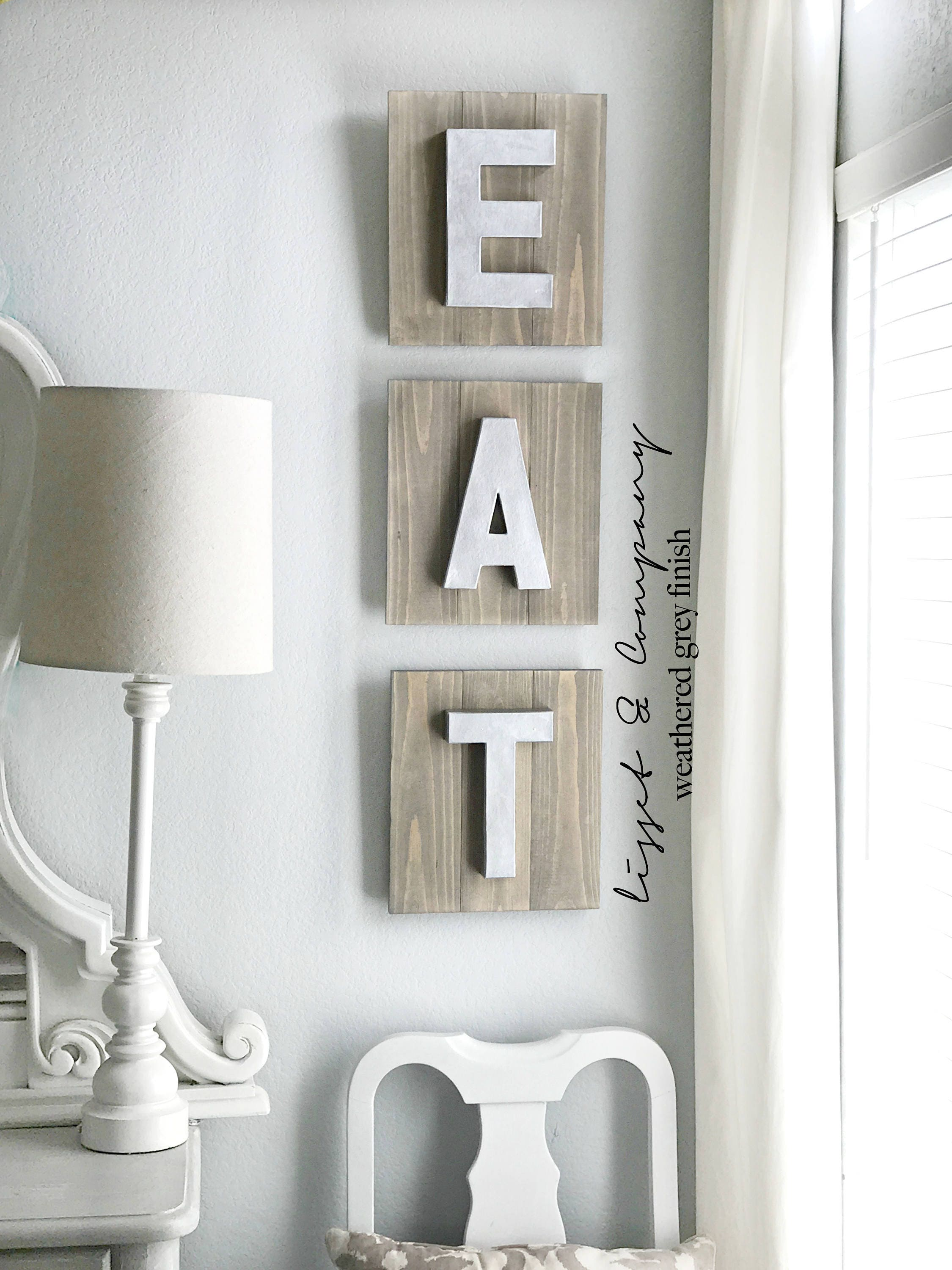 Kitchen Letters For Wall Extraordinary Items Similar To Eat Sign Eat Letters Eat Wall Letters Wooden Inspiration Design