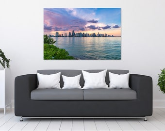 Miami Skyline Sunset Photo Print | Wall Art | Nature and Landscape Photography | (5x7, 8x10, 12x18, 16x24, 20x30, 24x36, 40x60)