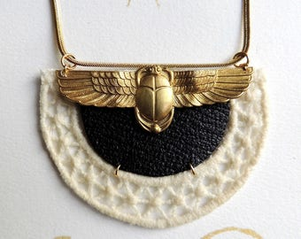 Flying scarab necklace
