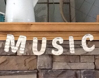music banner from vintage music sheets