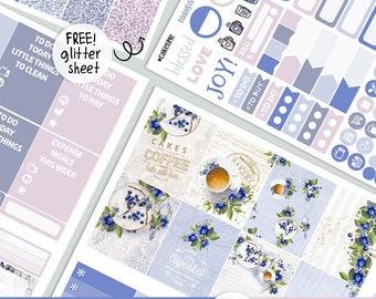 Cake Time - KIT - printable silhouette cut file ,  printable planner stickers Erin Condren Life Planner