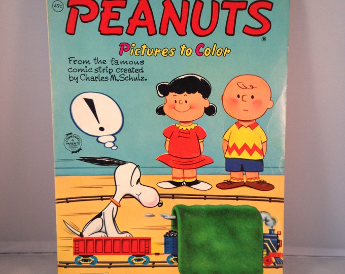 PEANUTS  Pictures to Color Coloring Book (1950s)