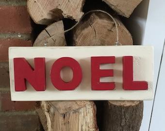NOEL 3D wooden letters l rustic Christmas decor l Christmas sign l NOEL sign l Holiday signs l Rustic Christmas decor