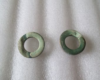 a wooden ring bead