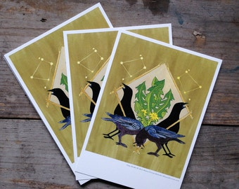 Crow Shield Postcard