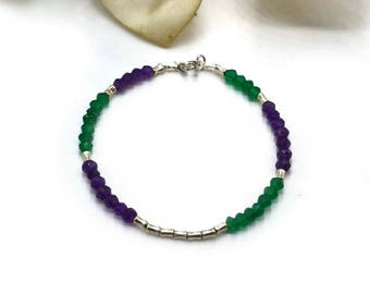 Emerald and Amethyst Bracelet.