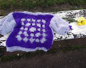 Handmade crochet women's pullover, top, mohair, bohemaian style