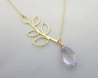 Amethyst Branch Necklace