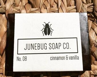 3 PACK: Cinnamon & Vanilla Bar Soap - Natural Soap, Handmade Soap, Bar Soap, Homemade Soap, Cinnamon Soap, Vanilla Soap, Vegan Soap