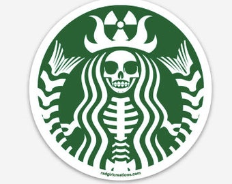 Skull-Bucks Coffee Decal