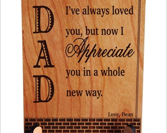 Dad Gifts - Fathers - Father's Day Gift Personalized from Daughter-Son - Dad Appreciation Gift,  PDL034