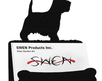 Westie Terrier Dog Metal Business Card Holder