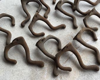 One Dozen Vintage Metal Hooks; Architectural Salvage Reclaimed Hardware Supply, H02