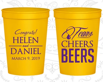 Yellow Stadium Cups, Yellow Cups, Yellow Party Cups, Yellow Wedding Cups (462)
