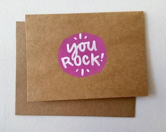"4""x6"" Greeting Cards blank inside, you rock"