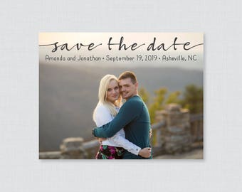 Printable OR Printed Photo Save the Date Cards - Casual, Modern Save our Date Cards for Wedding, Casual Picture Save the Date Cards 107