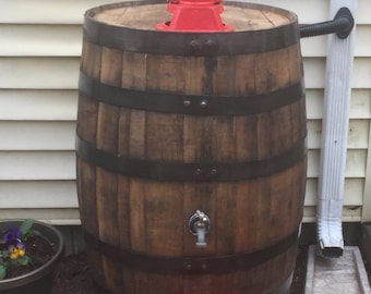 Whiskey Rain Barrel with Pump - Free Delivery and Installation in Eastern MA!