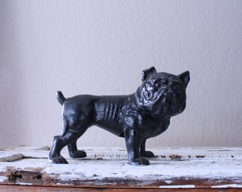 Cast Iron Bulldog Bank // Large Doorstop