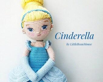Cinderella - Crochet Amigurumi Doll Pattern -  PDF download
