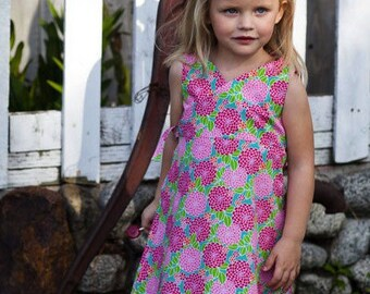 INSTANT DOWNLOAD- Kate Wrap Around Dress (Size 6-9 months to Size 6) PDF Sewing Pattern and Tutorial