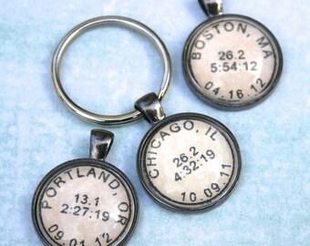 Marathon Keychain - Personalized Keychain - Custom Keychain - Running Key Chain - Marathon Gift - Gift for Runner - Half Marathon