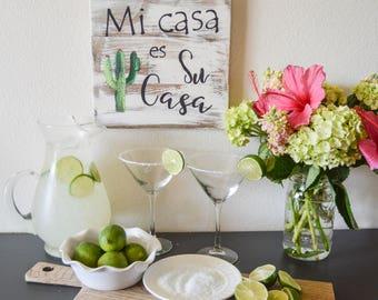 Mi Casa es Su Casa Sign, Southwest Decor, Mexican Decor, Rustic Sign, Farmhouse Sign