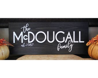 Established Family 3D Acrylic Sign