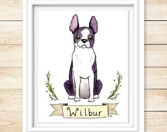 Fathers Day Gift Pet Portrait Watercolor Portrait Custom Pet Illustration Watercolor Painting Dog Lover Gift Cat Lover Animal Love Gift