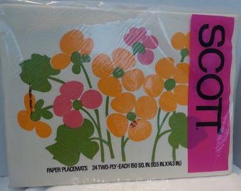 Vintage Scott 70's Paper Placemats (4) styles NIP
