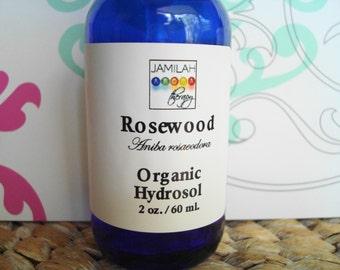 Organic Rosewood Hydrosol | aka Bois-de-Rose | Tones & Rejuvenates Skin | Stretch Marks | Sensitive Skin | Wrinkled Skin | Calms Mood |