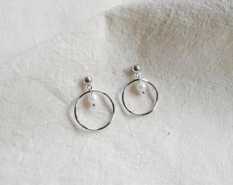 melt&float_Inner White pearl Earrings