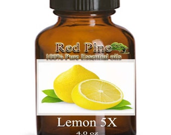 Lemon 5X Essential Oil - Citrus limonum - 100% Pure Therapeutic Grade