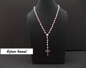 Pink & green Rosary