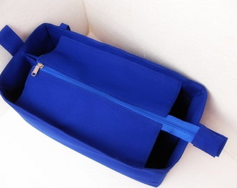 Purse organizer for Louis Vuitton Neverfull GM with Zipper closure- Bag organizer insert in Royal Blue