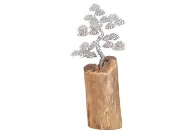 Driftwood Sculpture, Driftwood Art, Driftwood Bonsai, Wire Tree Sculpture, Bonsai Wire Tree, Metal Sculpture, Wire Art, Metal Art, Gift Idea