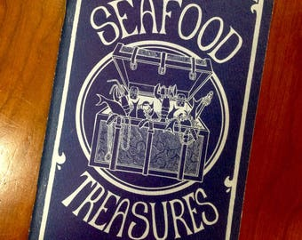 Seafood Treasures 1970 Softcover Cookbook