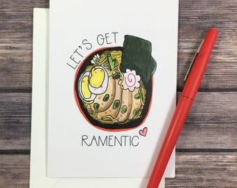 ramen card - valentine's day car - romantic card - i love you card - foodie card - anniversary card - love card - boyfriend card -girlfriend