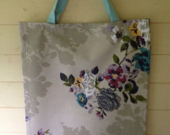 Recycled Floral Fabric Shopping Bag
