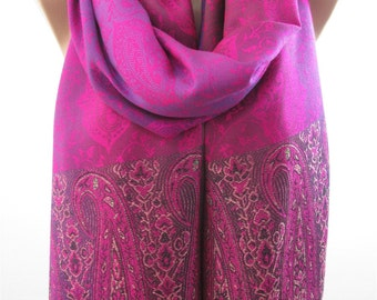 Clothing Gift Pashmina Scarf Magenta Purple Scarf Shawl Travel Gift  Mothers Day Gift For Her For Mom For Mom For Wife