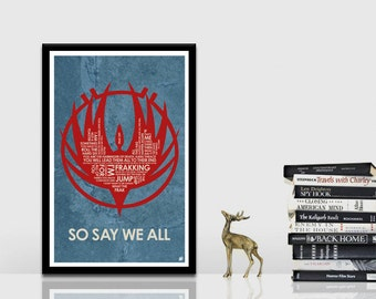 Battlestar Galactica Quote Poster