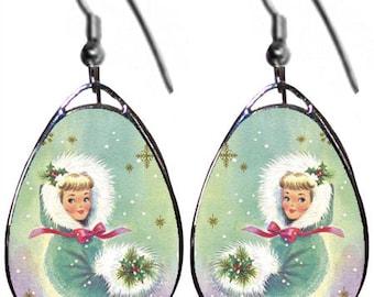 Christmas Girl earrings