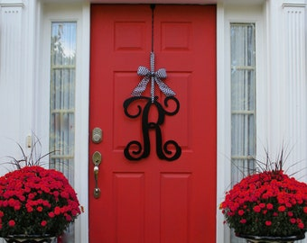 Monogram Letter   Initial Letter   Monogram Door Hanger   Front Door Wreath