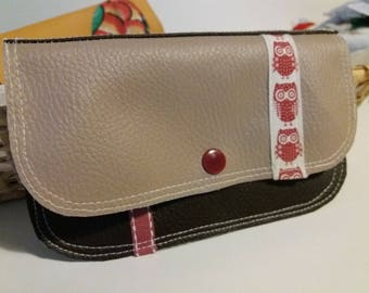 wallet imitation leather and cotton