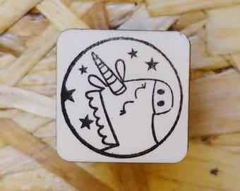 Stamp Unicorn Round