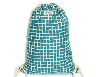 Ochos | Light Blue Squares Sack Bag