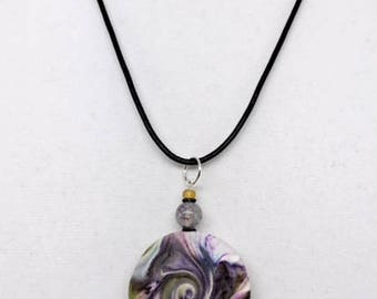 Karma Spiral Pendants - #273 Polymer Clay Pendant, Good Luck Charm, Good Karma, Handmade, One of kind, Unique Gift, Boho Jewelry
