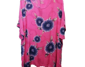 Pink blouse Big size woman